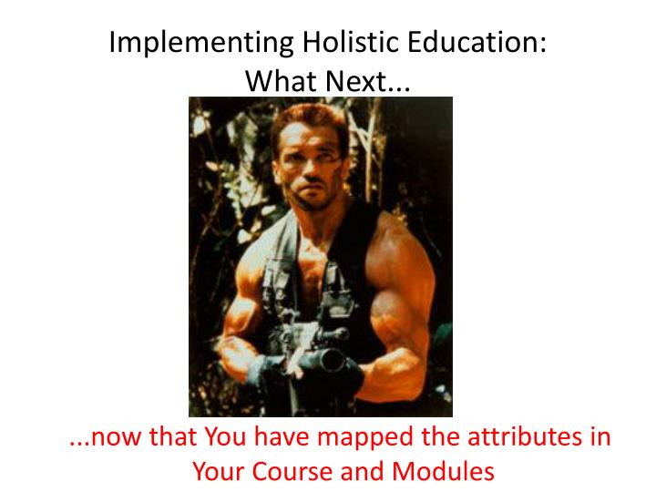 Implementing holistic education what next