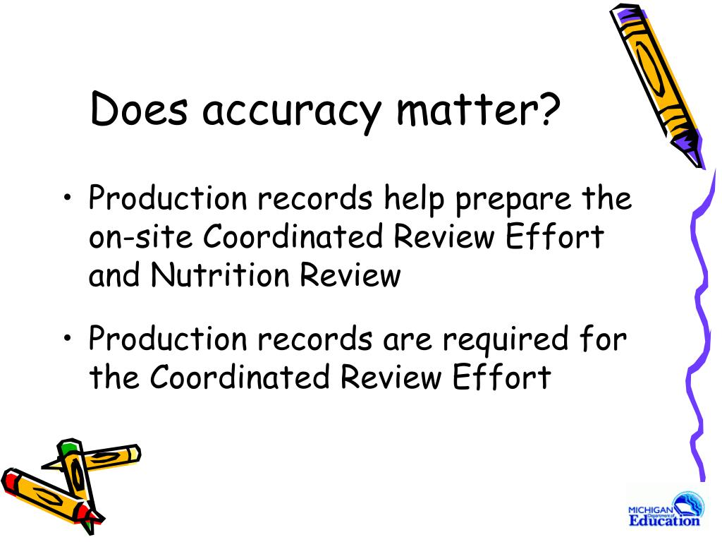 Does accuracy matter?
