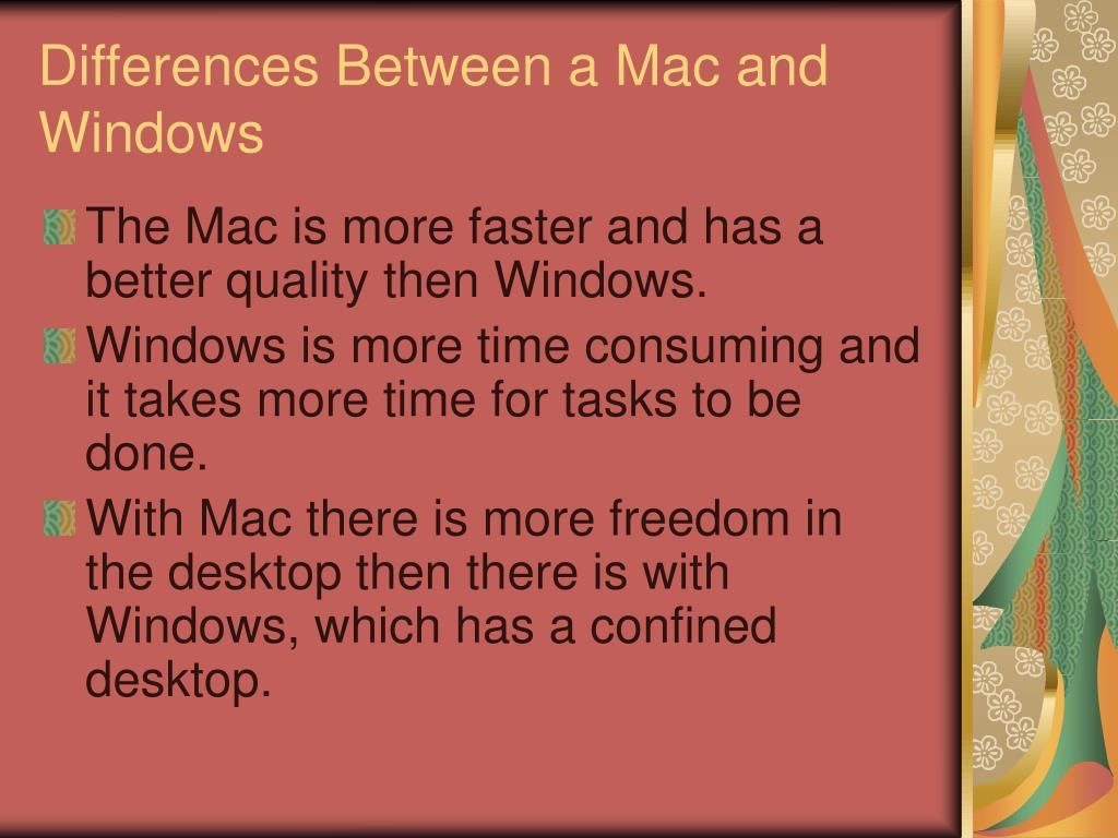 Differences Between a Mac and Windows
