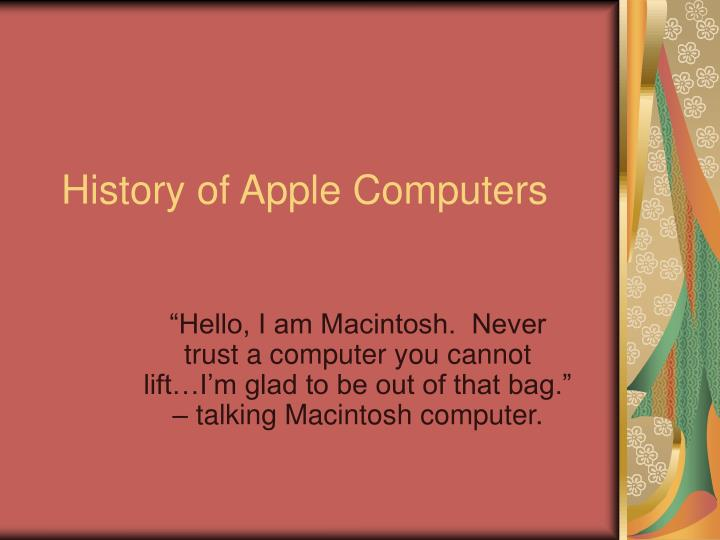 History of apple computers