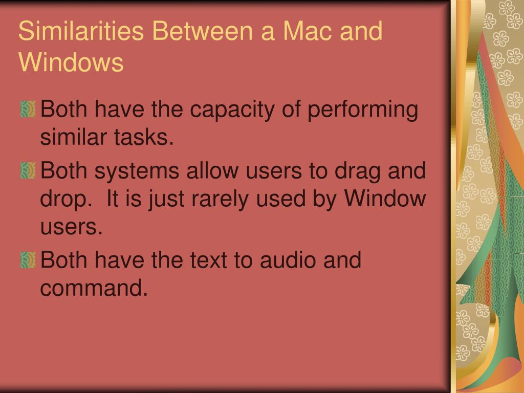 Similarities Between a Mac and Windows