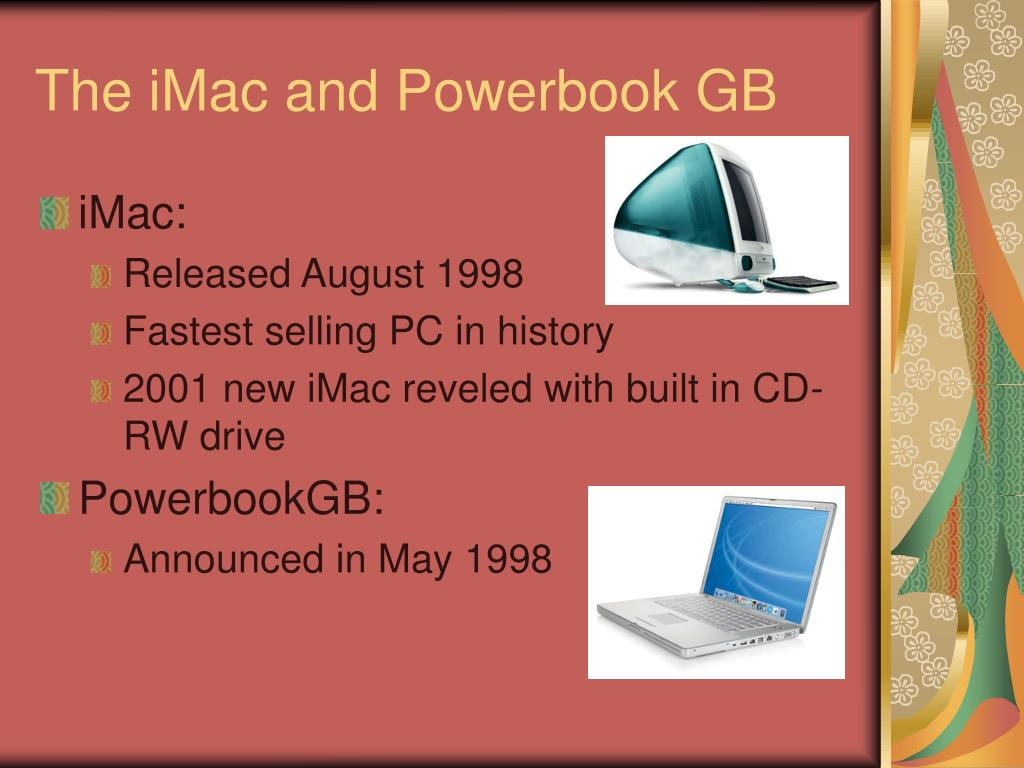 The iMac and Powerbook GB