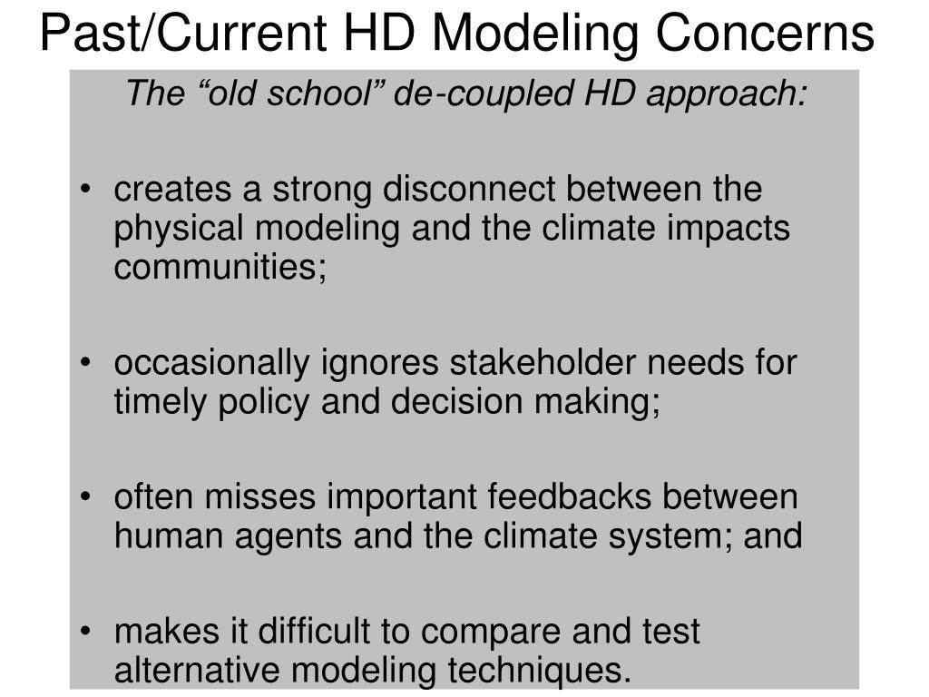 Past/Current HD Modeling Concerns