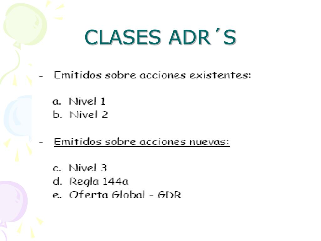 CLASES ADR´S