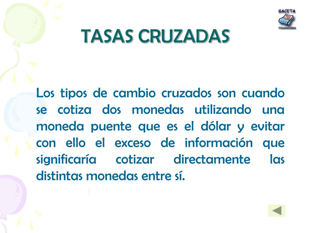 TASAS CRUZADAS