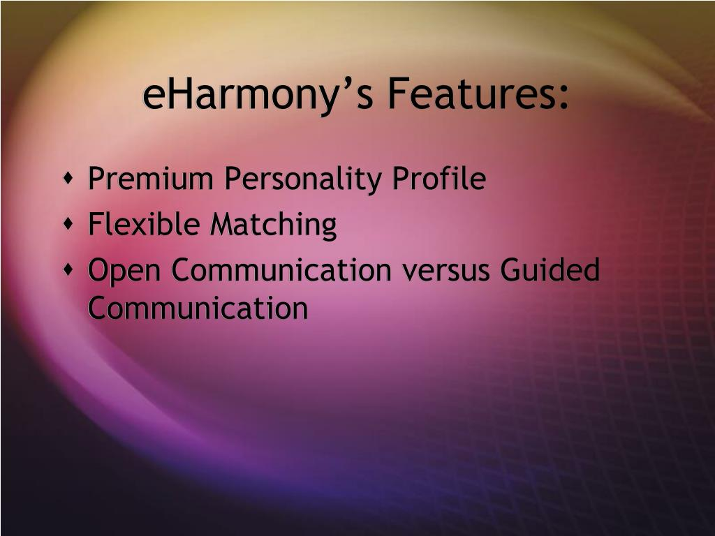eHarmony's Features: