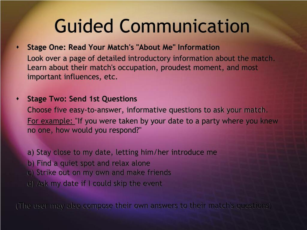 Guided Communication