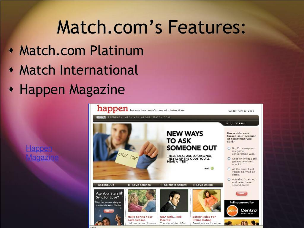 Match.com's Features: