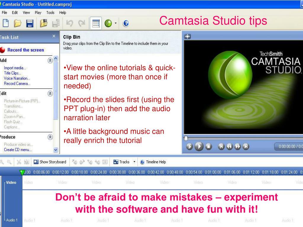 Camtasia Studio tips