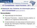 gt contabilidade a o priorit ria 2011