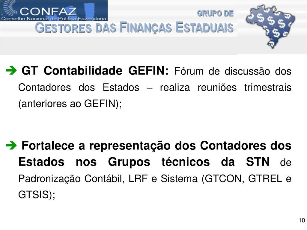 GT Contabilidade GEFIN: