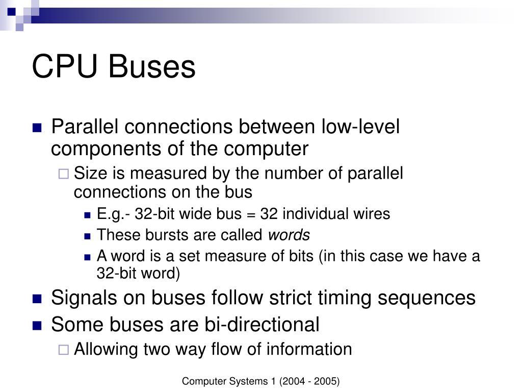 CPU Buses