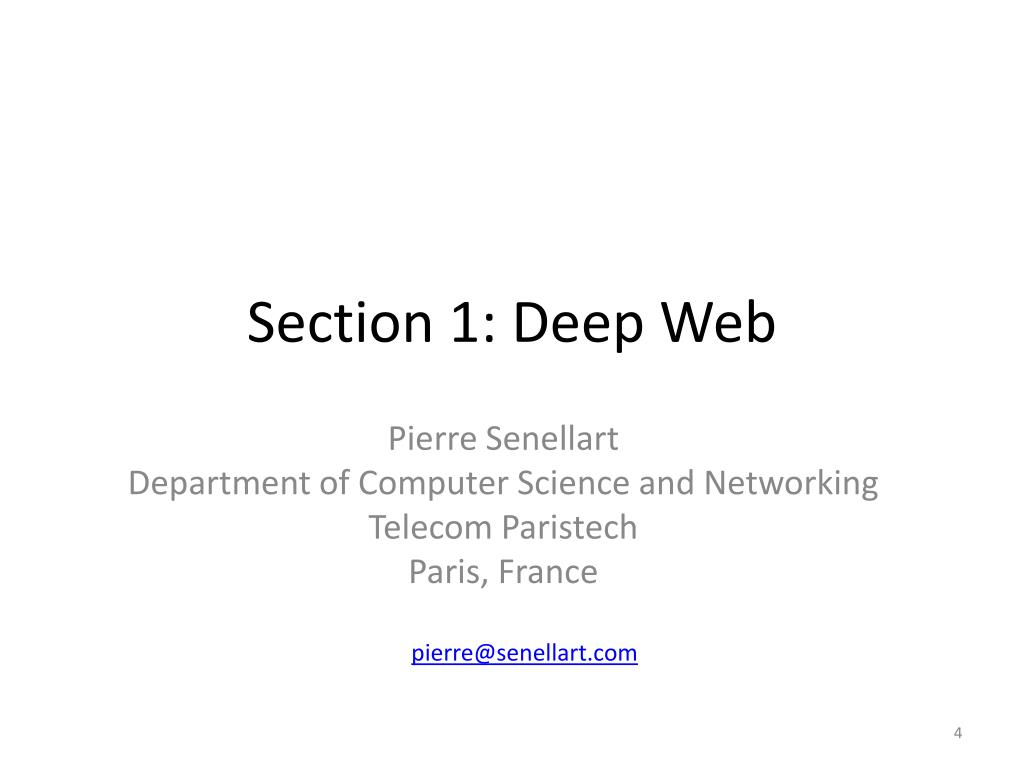 Section 1: Deep Web