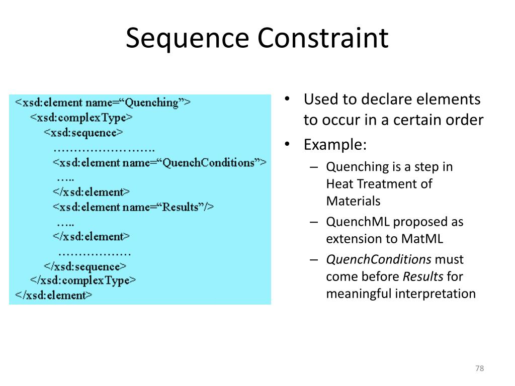 Sequence Constraint