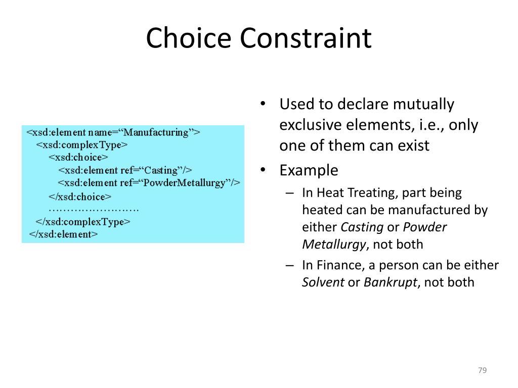 Choice Constraint