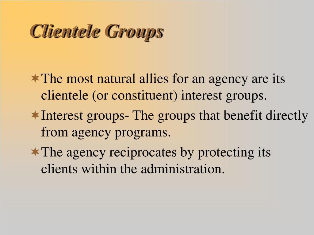 Clientele Groups
