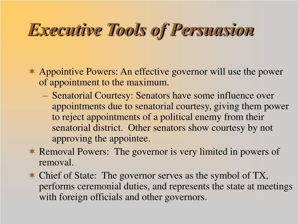 Executive Tools of Persuasion