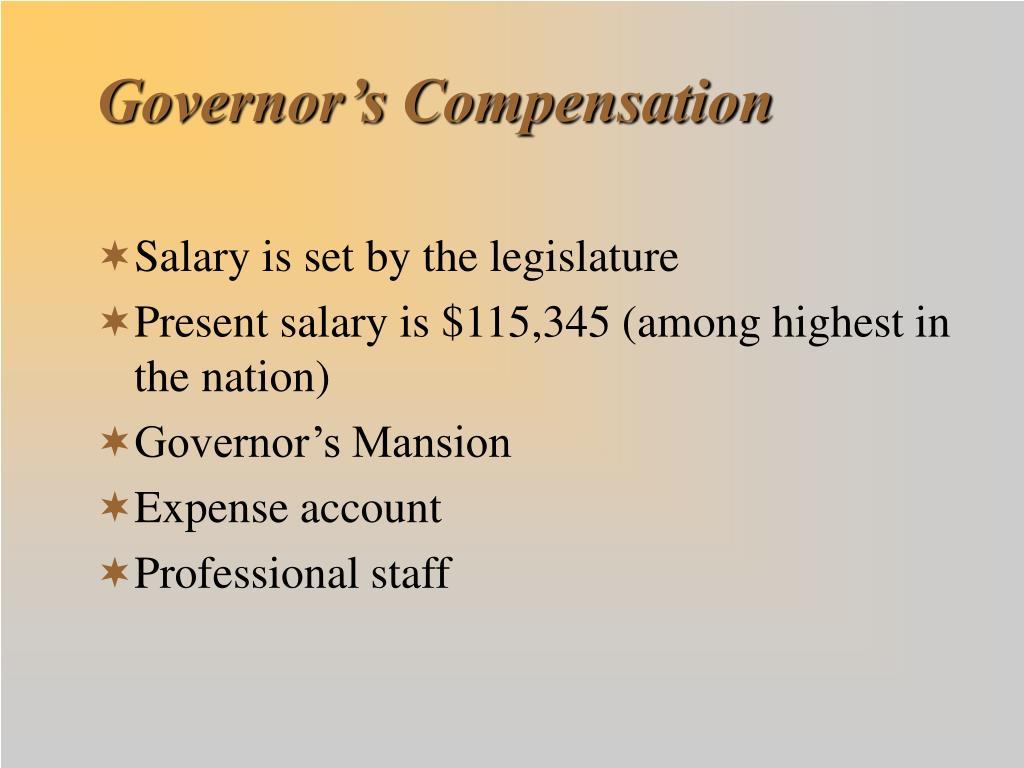 Governor's Compensation