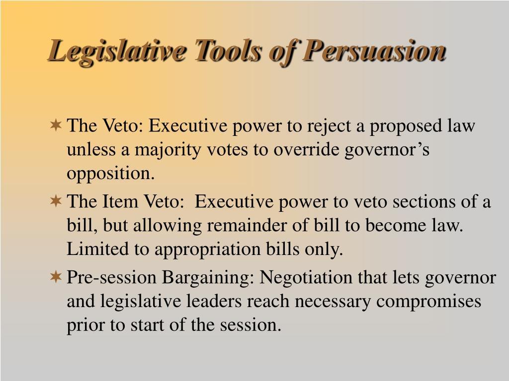 Legislative Tools of Persuasion