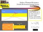 surface plasmon resonance portable biochemical sensing systems basic operation