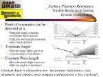 surface plasmon resonance portable biochemical sensing systems configurations