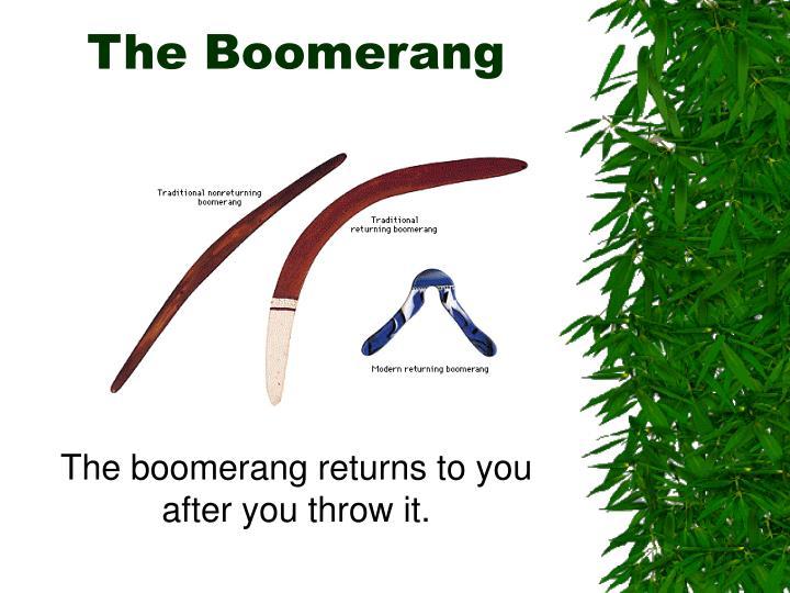 The Boomerang