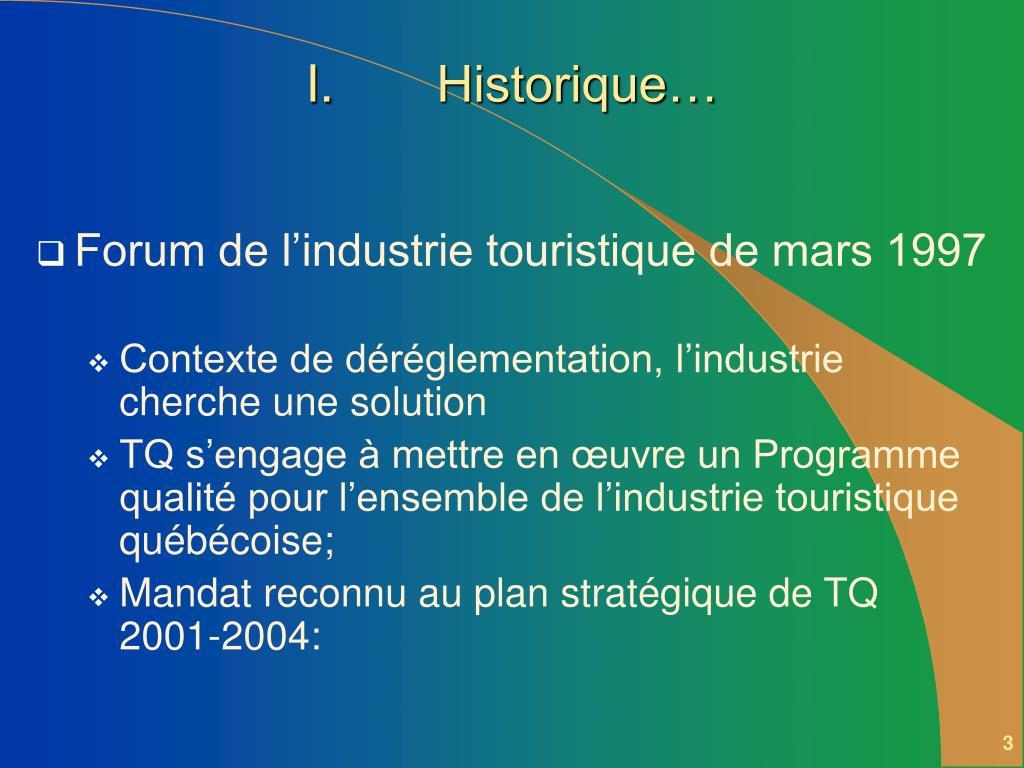 Historique…