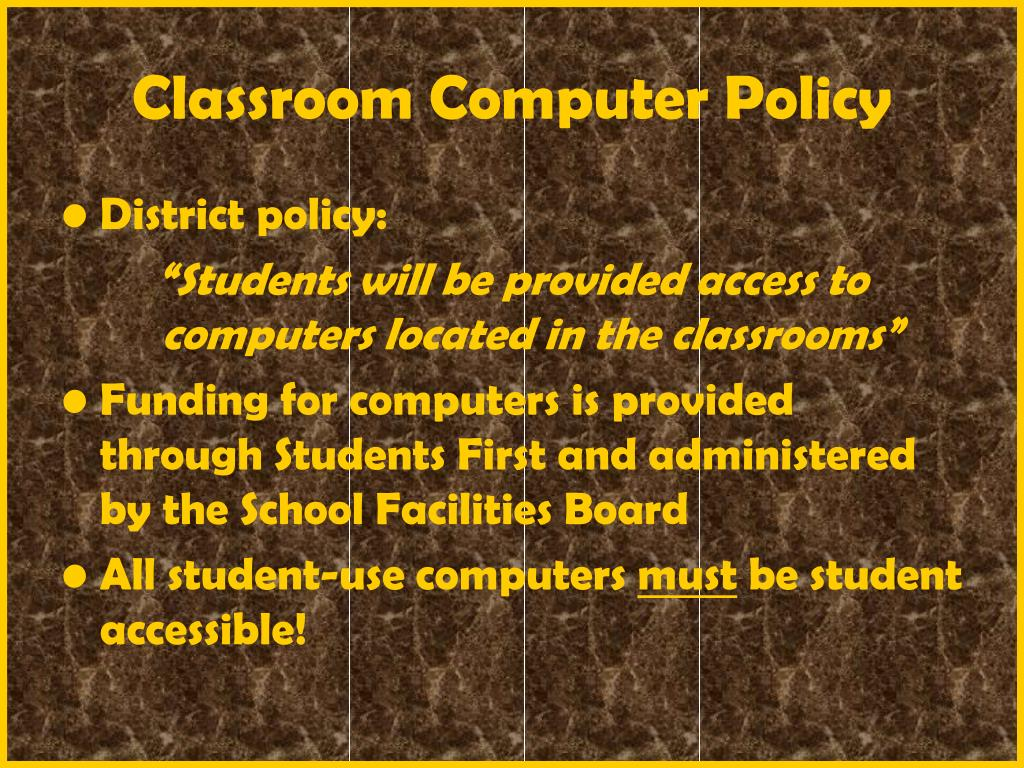 Classroom Computer Policy