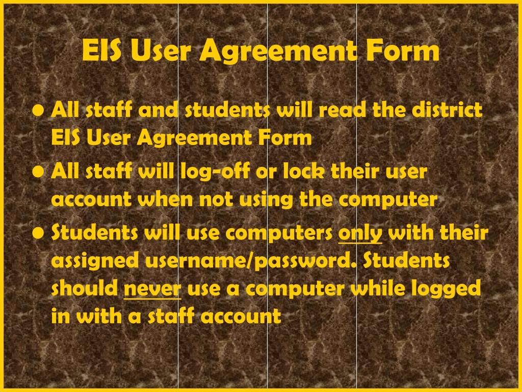 EIS User Agreement Form