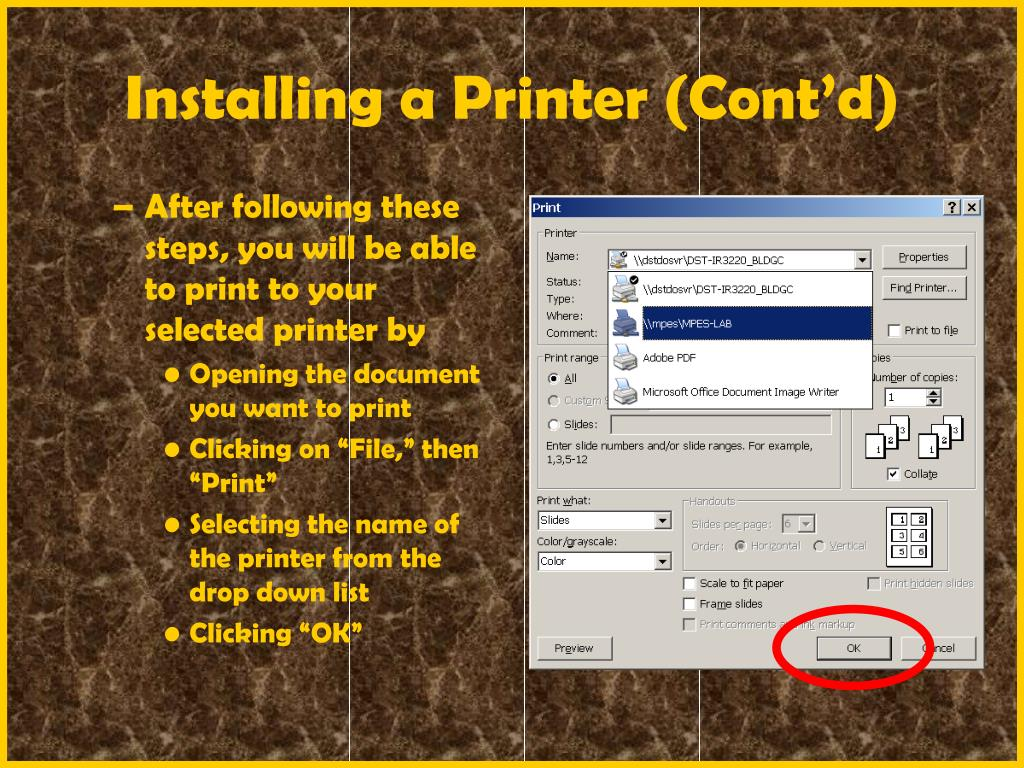 After following these steps, you will be able to print to your selected printer by