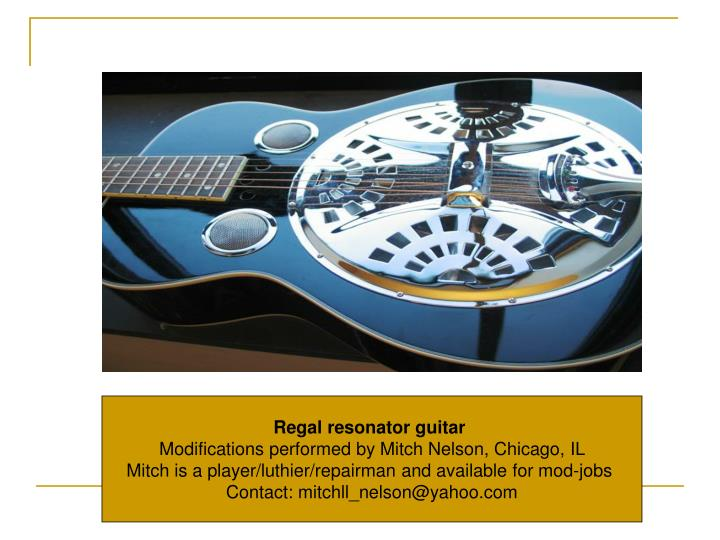 Regal resonator guitar
