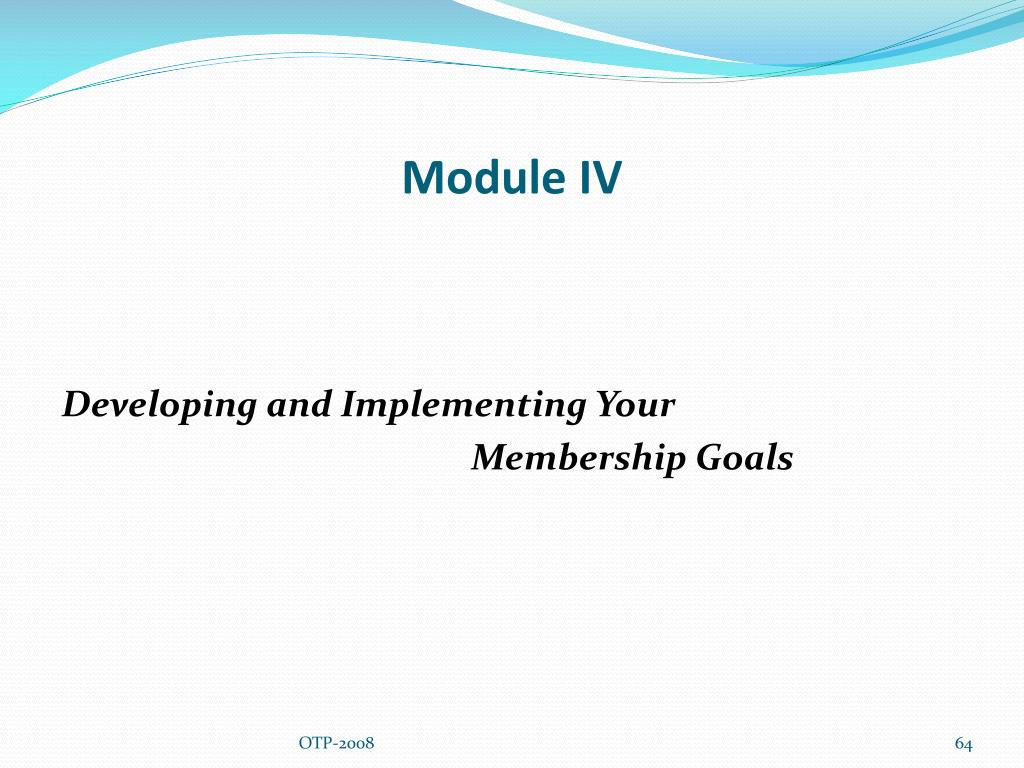 Module IV