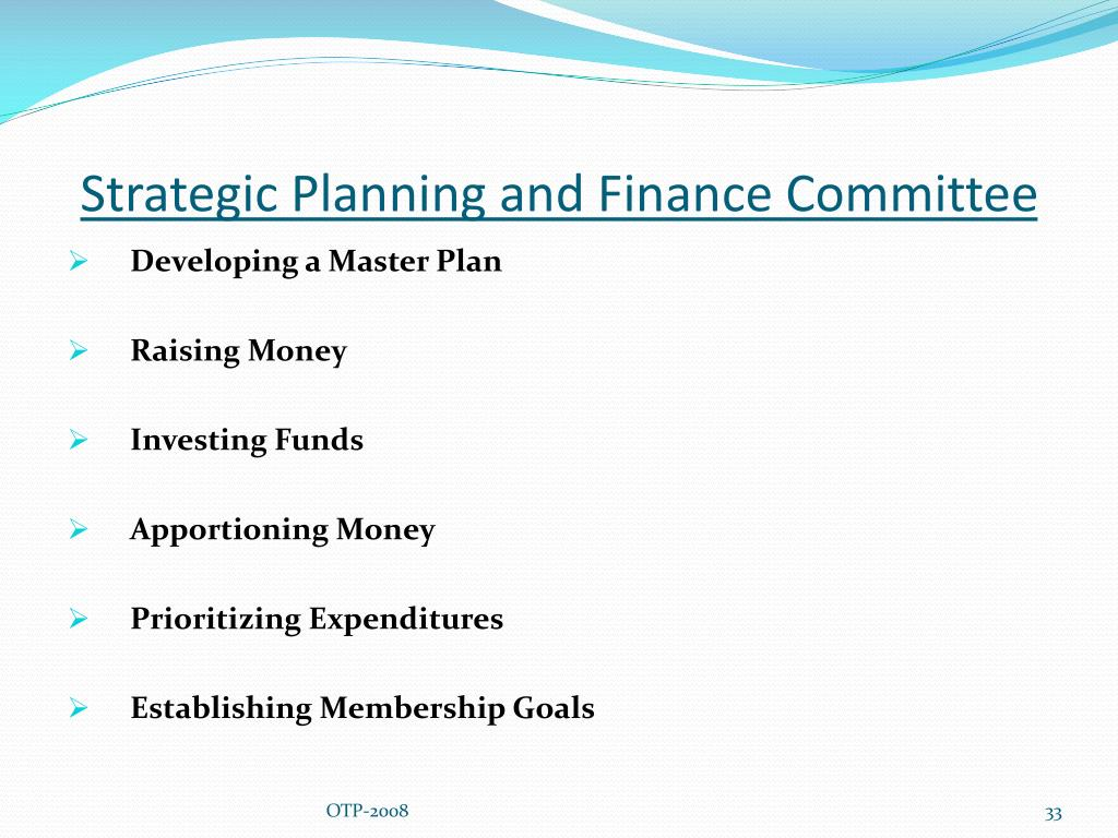 Strategic Planning and Finance Committee