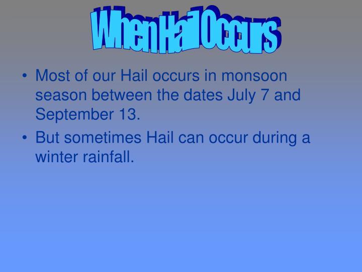 When Hail Occurs