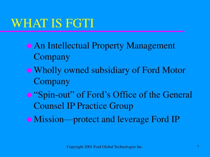 WHAT IS FGTI