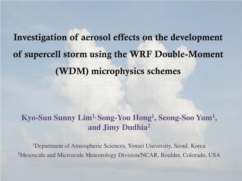 Investigation of aerosol effects on the development of supercell storm using the WRF Double-Moment (WDM) microphysics schemes
