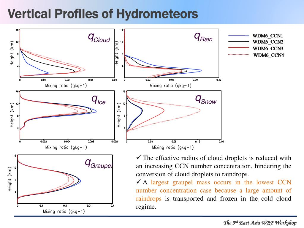 Vertical Profiles of Hydrometeors