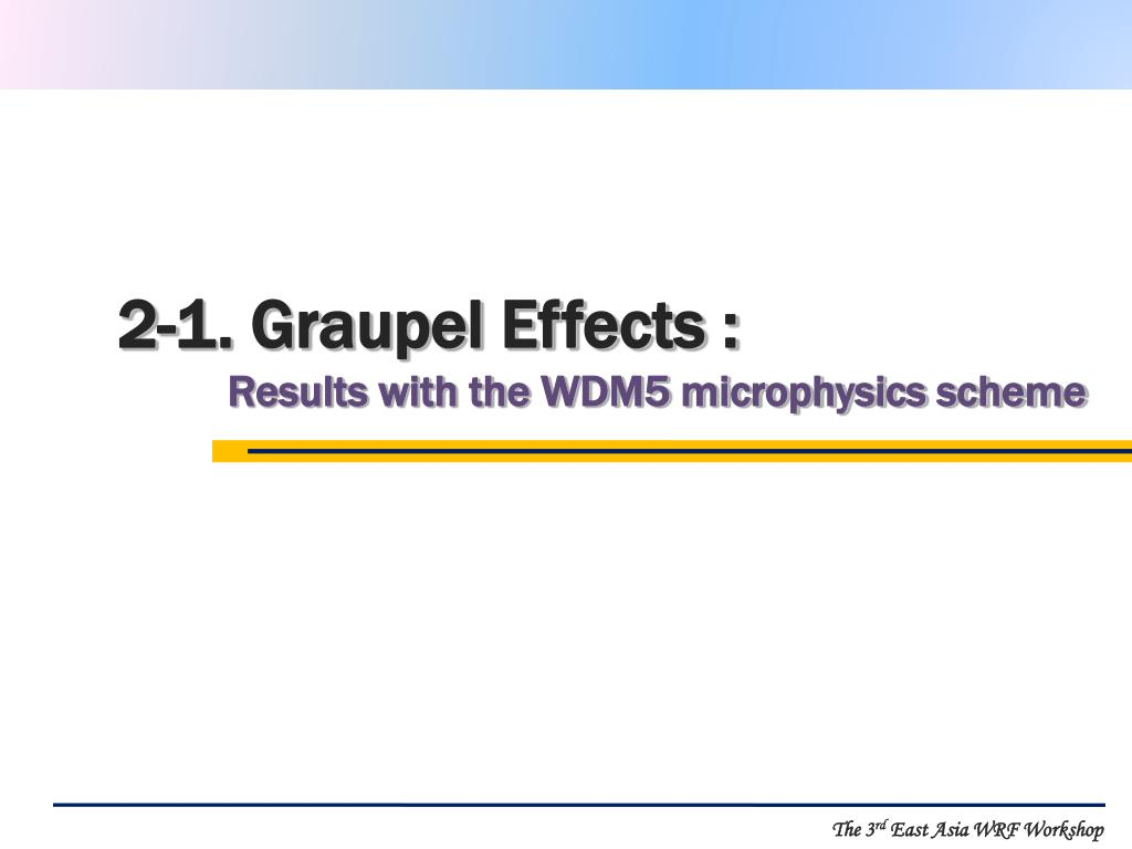 2-1. Graupel Effects :