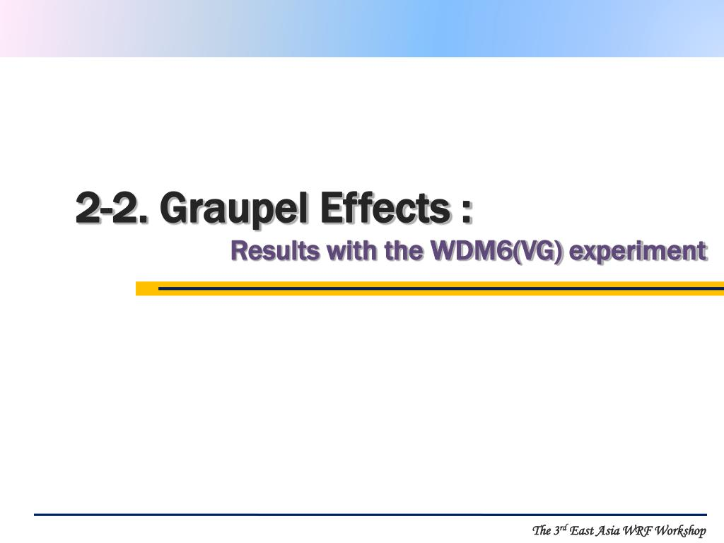 2-2. Graupel Effects :