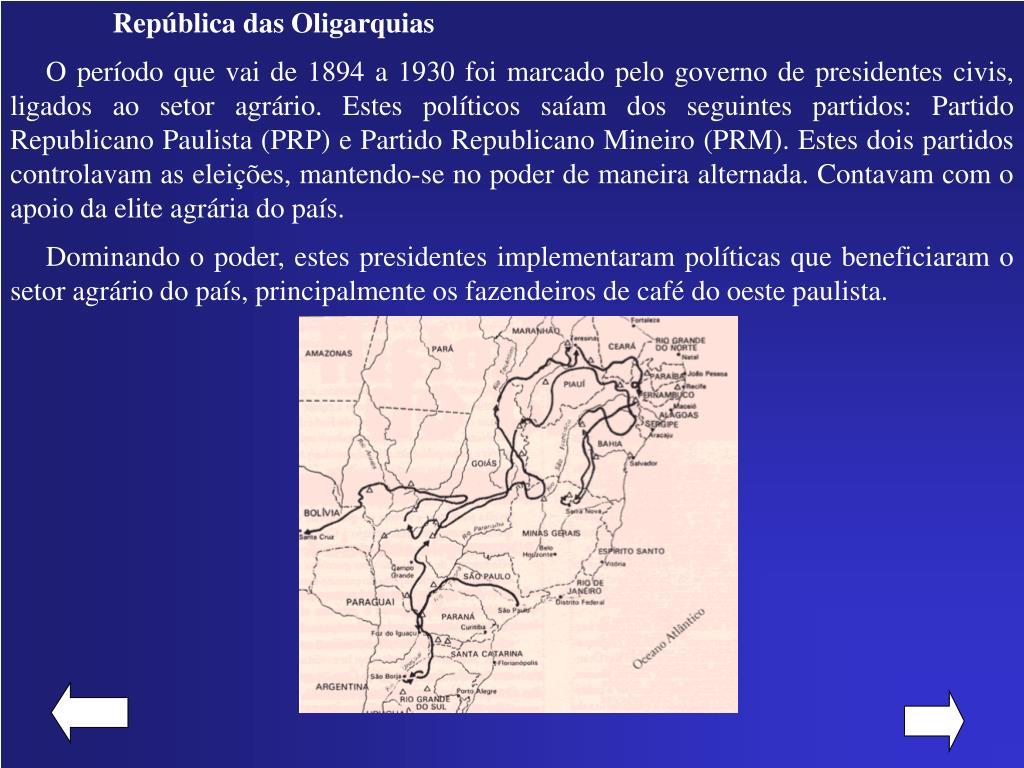República das Oligarquias