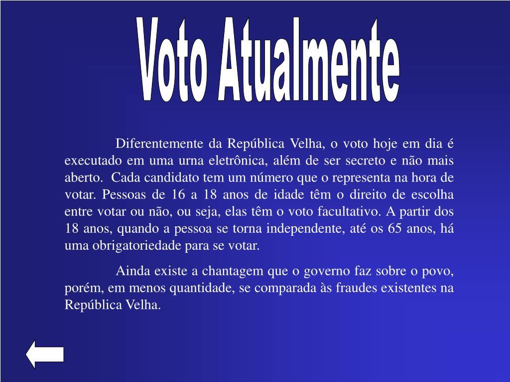 Voto Atualmente