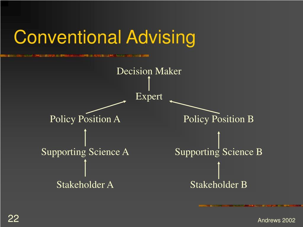 Conventional Advising