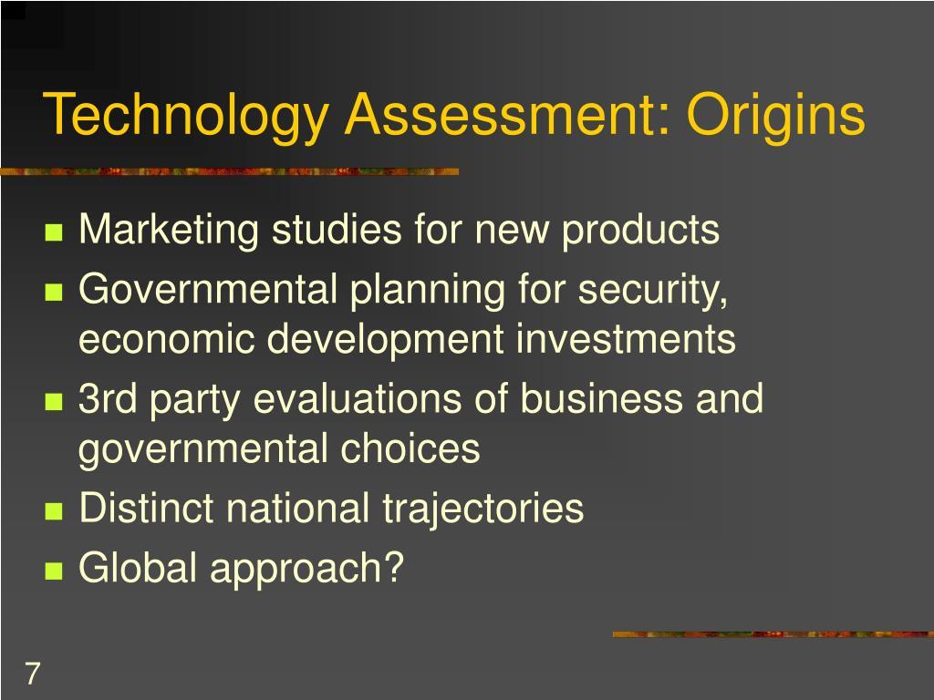 Technology Assessment: Origins