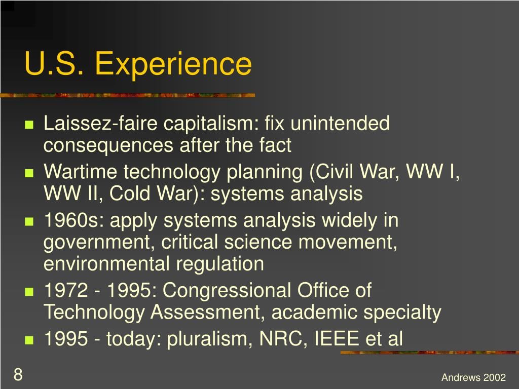 U.S. Experience