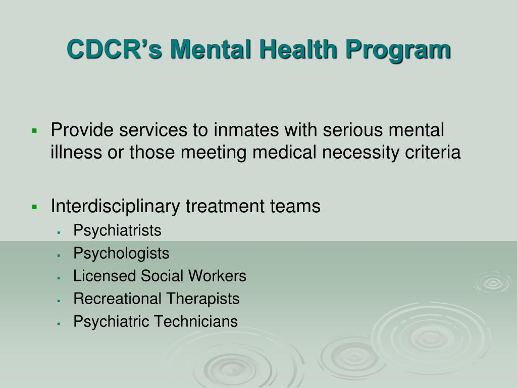 division behavioral health recovery acute mental care