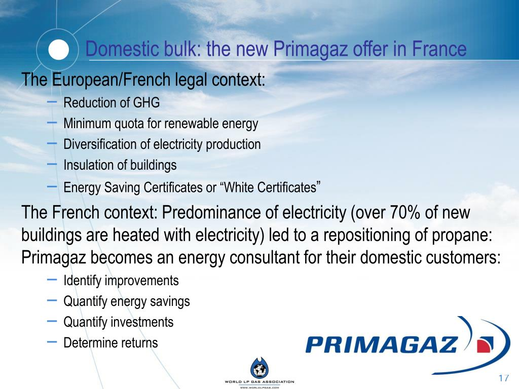 Domestic bulk: the new Primagaz offer in France