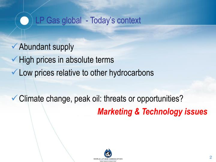 Lp gas global today s context
