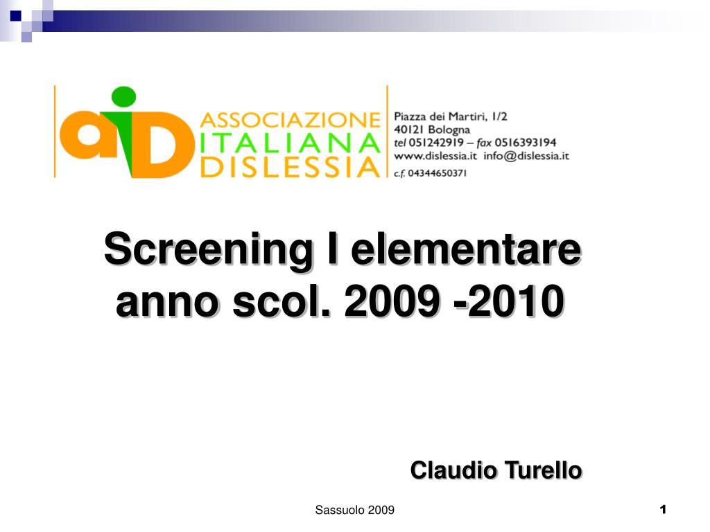 Screening I