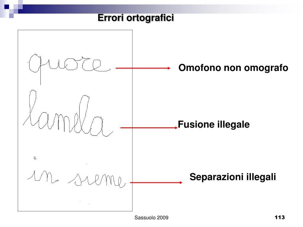 Errori ortografici