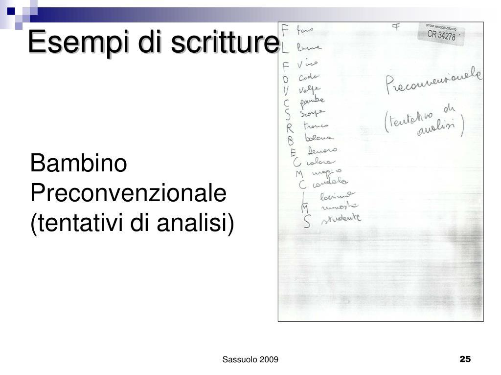 Esempi di scritture